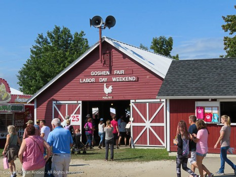 The Goshen Fair has been held at this location, on Labor Day weekend, for just over 100 years!