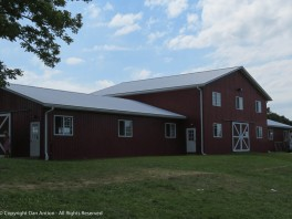 One of the larger buildings at the Goshen Fair.