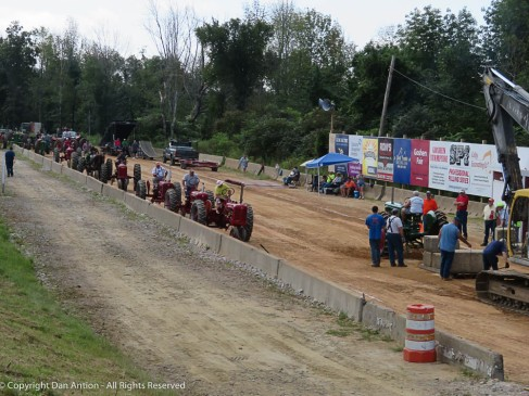 """We watched the first round of the """"antique tractor pull"""" - These are from the 1950s (I am also from the 50s...hmmm)."""