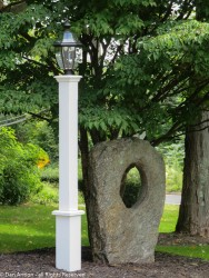 I think the stone looks like a portal and the lamp is for Joey.