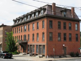Well maintained, brick building.