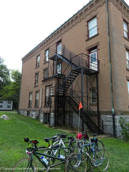 I love fire escapes and they usually have doors.