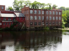 Mill buildings throughout New England were built proximate to the rivers to harness the power of the water.
