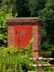 This little control building sits across the road near the bridge over the Farmington River from the power station.