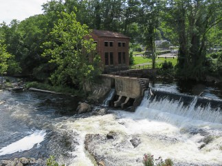 Collins generation station. The water that once directly powered the mill was used to generate electricity that powered the mill.