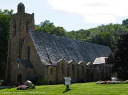 St. Patrick Church. Stone building, slate roof - beautiful.