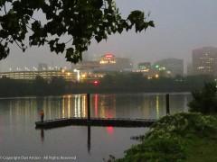 Foggy start for Hartford - not bad for fishing.