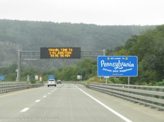 The obvious way we know we're in Pennsylvania.