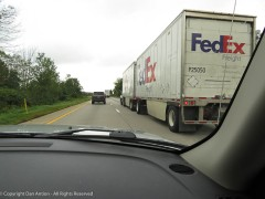 FedEx - I guess this means Faith is driving :-)