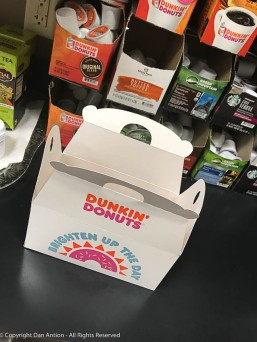 Somebody brought Munchkins to work today. Yes, we also stock their coffee.