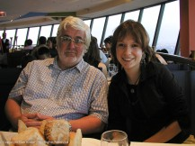 David and Faith. We were celebrating Faith's birthday with dinner in the CN Tower.