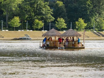 Floating Tiki bars are a new thing on the rivers of Pittsburgh this year.