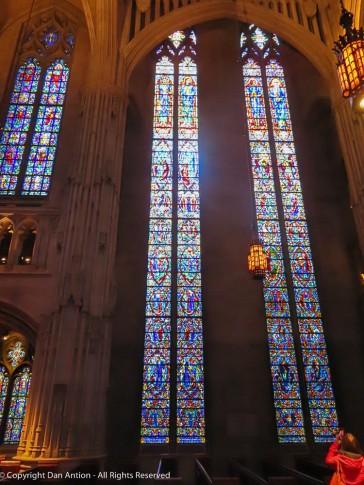 North side transept windows