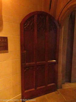 This is one of the side doors between the Narthex and side aisle of the church.