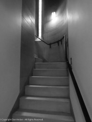 This little stairway leads up to the main floor from the basement.