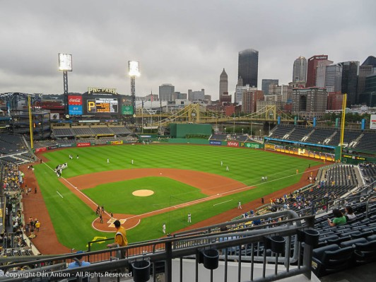 PNC Park is beautiful and the view is even better.