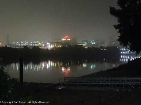 Foggy mornings, rainy days, quiet river.