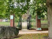 Cemetery gates.