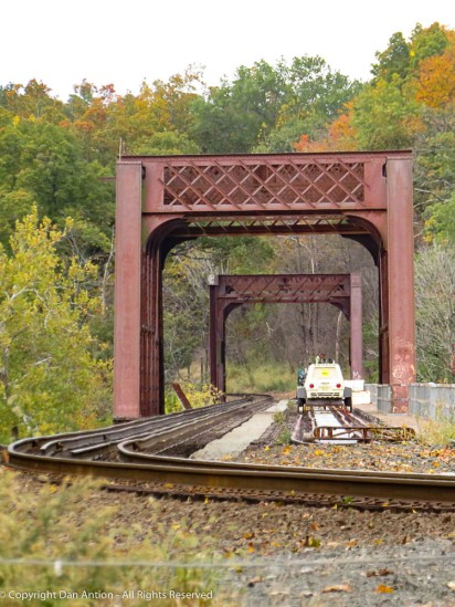 They've been working on this trestle for well over a year. It's been standing for well over 100 years.