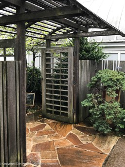 This is the entrance to the Bonsai garden. That garden is outside, but we didn't mind getting a little wet.