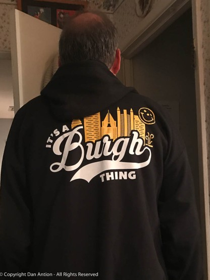 Eat'n Park hoodie - a gift from Faith.
