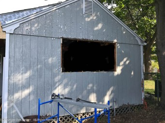 """I have to frame two 24x42"""" rough openings in the opening where the large window was installed."""