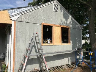 The rough openings for the new windows are complete.