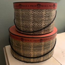 The hat boxes. I'm going to say that the lids count as doors.