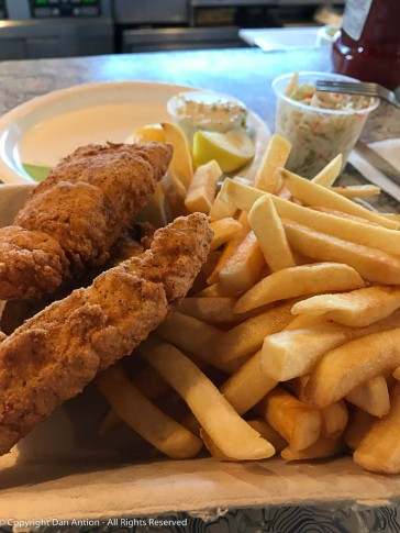 Fish & Chips at the diner.
