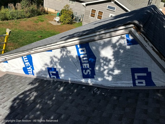 Back on the roof. For the last time (until I paint those trim boards).