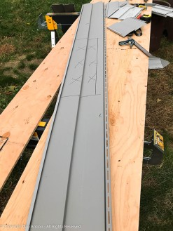 If I make a mistake on this cut, the result is a lot of wasted siding.