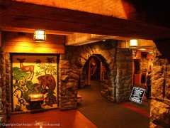 Doorway inside the lodge - This is actually Timberline Lodge on Mt. Hood in Oregon
