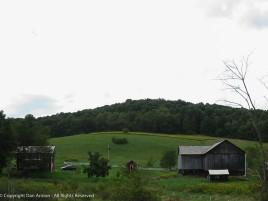 Central Pennsylvania farm. Rolling hills and bog barn doors.