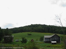 Central Pennsylvania farm. Rolling hills and bog barn doors.