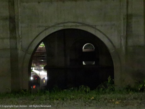 Looking under the Founders Bridge.