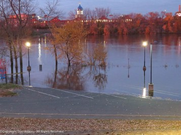 The lamp posts well into the water are the ones where I usually park.