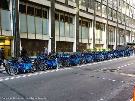 A few more bikes than you might find in Hartford.