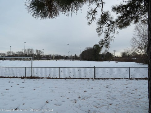 The snow is gone now, but the park was pretty when covered.
