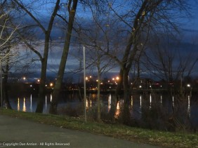 Looking south from Great River Park (using my camera's night landscape scene setting).