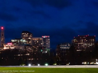 Hartford from above the levee.