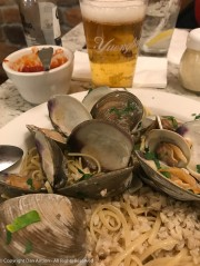 Linguini and clams for me.