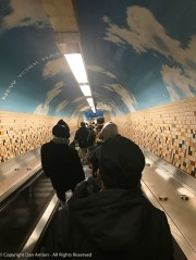 Later this night, I would really appreciate this escalator down to the subway platform in NYC.