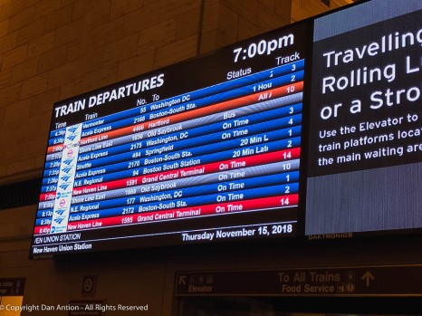 Train 494, the 7:35 that's showing as 'On Time' will never leave the station tonight.