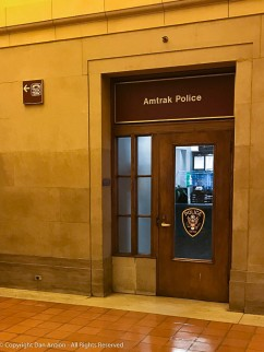 AMTRAK Police office in New Haven's Union Station.