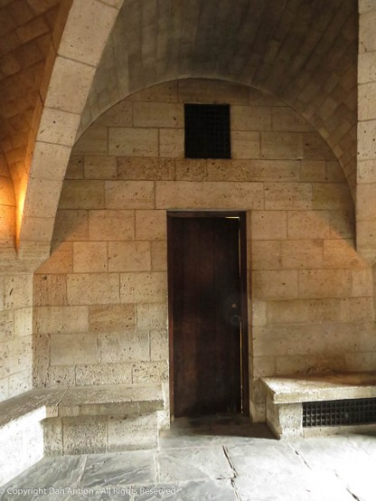 I am always impressed with the ability to fit wood doors into stone entrances.