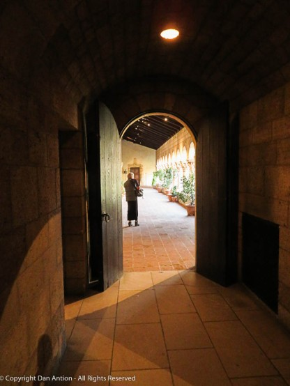 The doorway into the cloister.