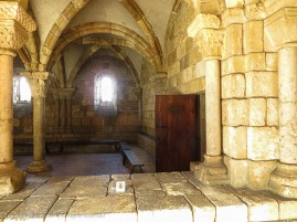 This door is on the side of the Chapter House, where meetings would be held.