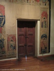 The tapestries are the feature attraction. I wonder what people thought of me focusing on the door.