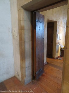Simple slab door, but this would have required expert craftsmanship in the 15th century.