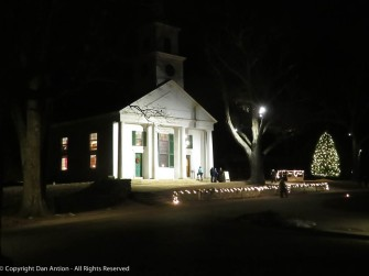 The Meeting House and the OSV Christmas tree.